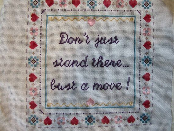 PATTERN Hip Hop Cross Stitch Bust a Move Young MC on Etsy, £3.18