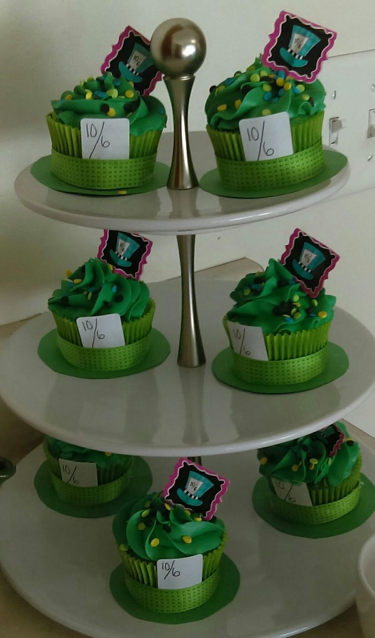 Mad Hatter hat cupcakes