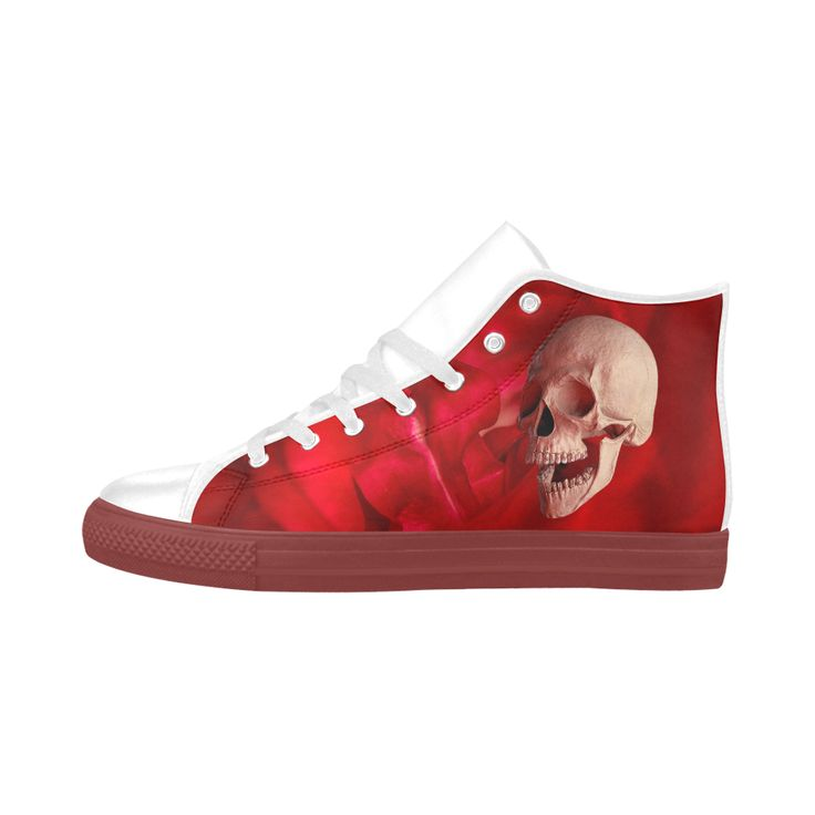 Funny Skull and Rose Aquila High Top Action Leather Women