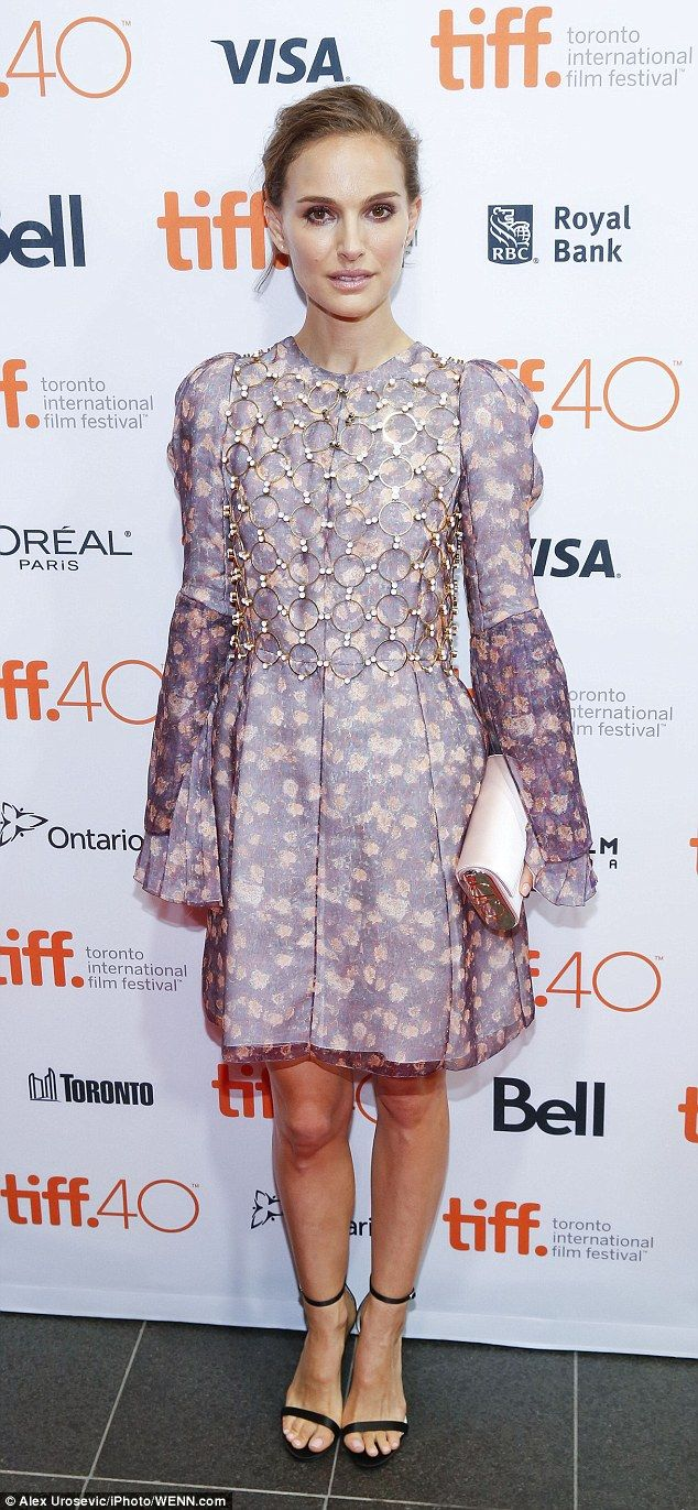 Natalie Portman stuns at Toronto International Film Festival #dailymail