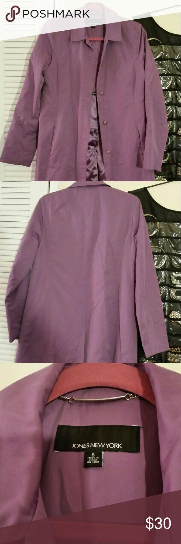 Women's rain coat Purple rain coat New York & Company Jackets & Coats