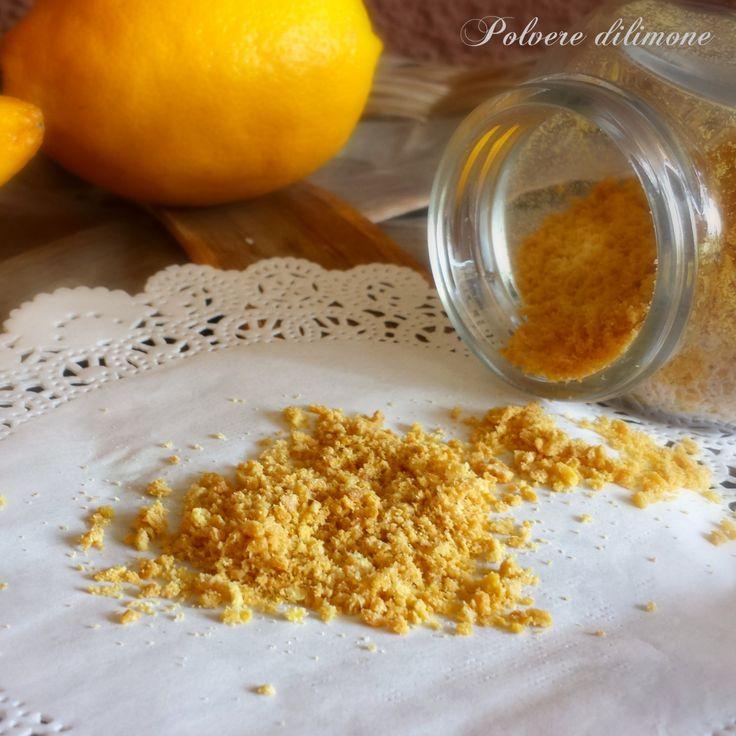 Polvere di limone, aroma x dolci.
