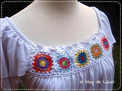 """el blog de Lauri: Blusa blanca """"tuneada"""""""