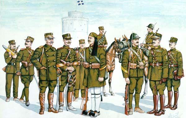 Γενικό Επιτελείο Στρατού - Οι στολές του Ελληνικού Στρατού κατά περιόδους 1912-1922