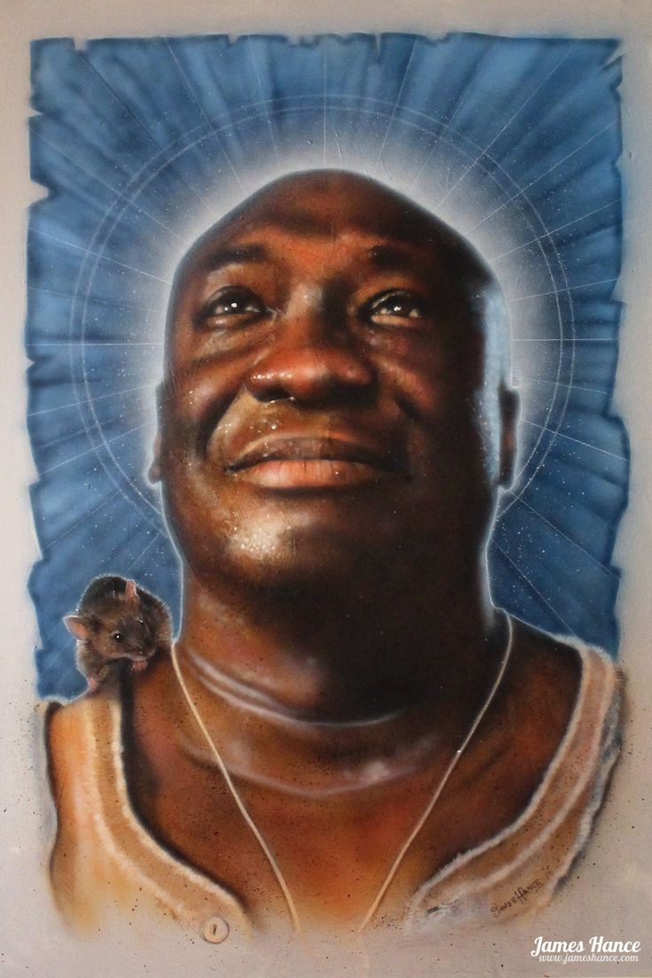 "Latest Painting - ""A Sparrow In The Rain"" (John Coffey / The Green Mile - 24"" x…"