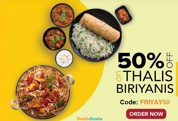 On-line Meals Order with Dealsdunia