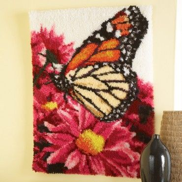 Mary Maxim - Butterfly Landing Latch Hook Rug Kit - Latch Hook - Crafts