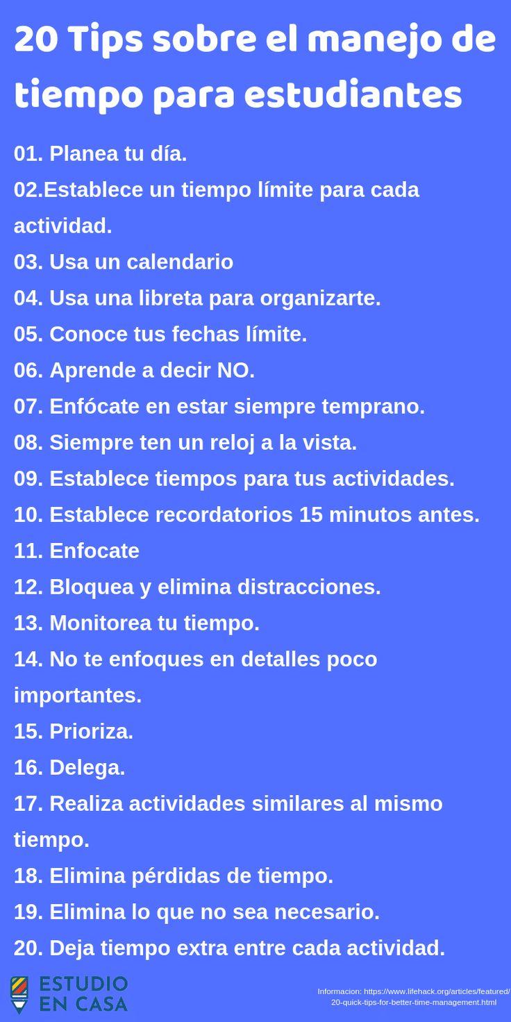 Tips para el manejo de tiempo para estudiantes (2)