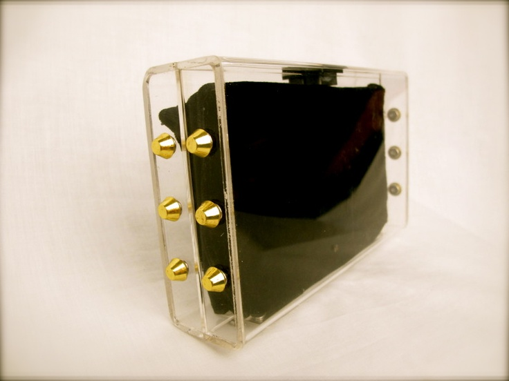 GOLD Studded Clear Perspex Clutch only £66 #fashion #gifts