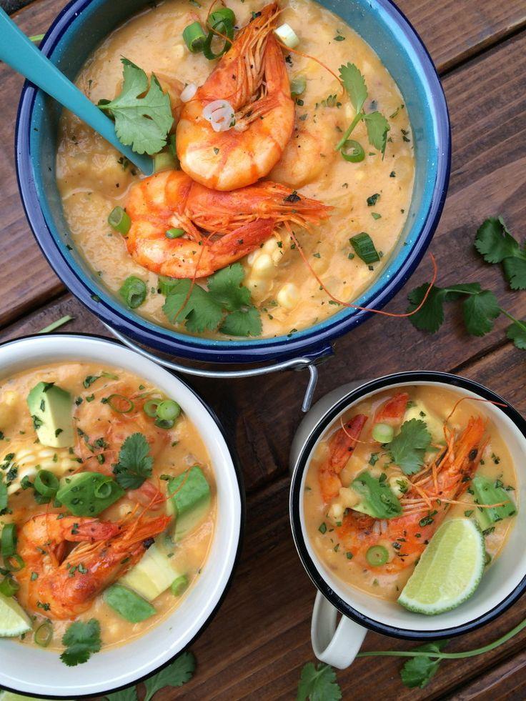 locro_camaron_choclo_9 Spicy Recipes, Seafood Recipes, Soup Recipes, Healthy Recipes, Kitchen Recipes, Cooking Recipes, Kitchen Hacks, Shrimp Soup, Peruvian Recipes