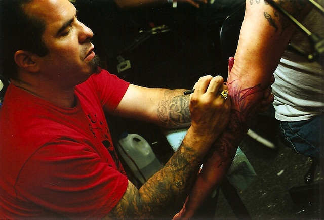 Corey Miller of Six Feet Under Tattoo Parlor.. one of my most hero-type artists...