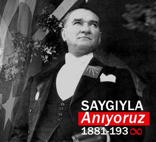 Türkiye Cumhuriyeti'nin kurucusu Ulu Önder Mustafa Kemal Atatürk'ü özlemle anıyoruz...  #10Kasım #Atatürk #Cumhuriyet #Anma