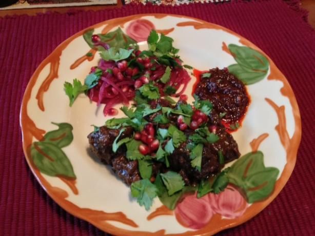 Lamb Tagine With Walnuts and Pomegranate. Photo by French Terrine