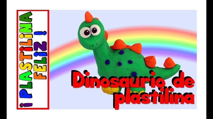 Dinosaurio en plastilina, cómo hacer un dinosaurio de plastilina