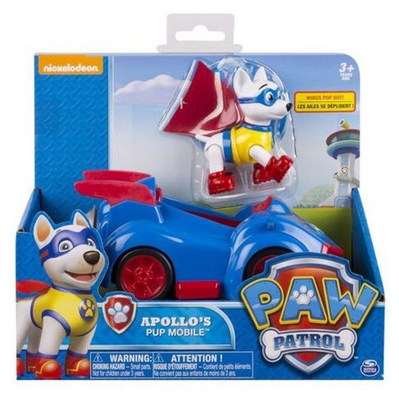 Christmas 2017 gift for our beautiful granddaughter and handsome grandson.  Paw Patrol Apollo's Pup Mobile Vehicle and Figure.  I think this FINALLY competes the set of Paw Patrol characters. They now have EVERY pup and their vehicles, the robo pup, and Mr Turnbolt