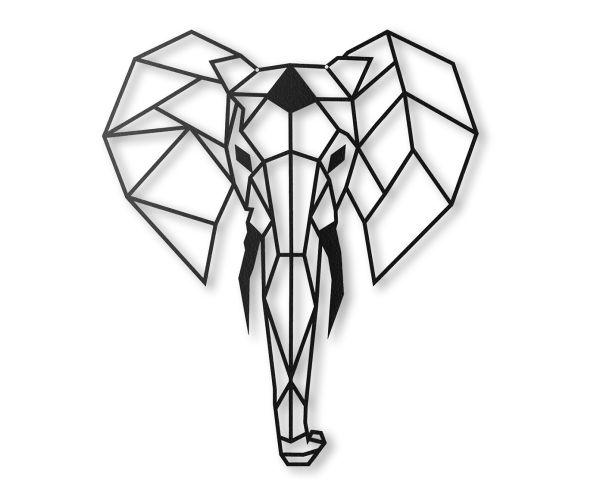 """Dekoracja ścienna """"Elephant"""", 45 x 52 cm"""