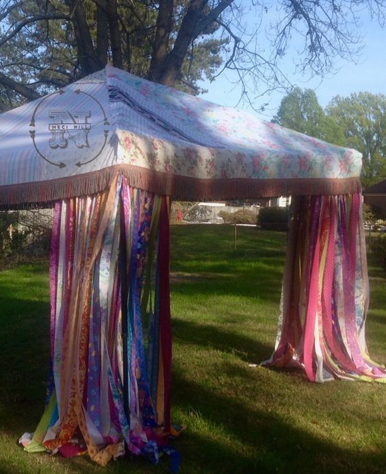 Etsy $525 Hippie Canopy Cover Bohemian Market Tent Junk Gypsy Backdrop Boho Pop Up Shabby Wedding Shower Event Glamping Festival Coachella Yoga Etsy $525.00