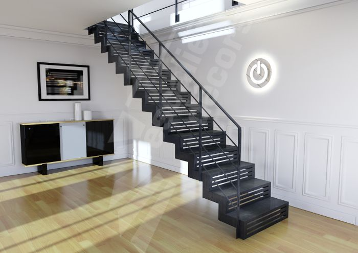 25 b sta escalier droit id erna p pinterest escalier en verre rampe en verre och escalier. Black Bedroom Furniture Sets. Home Design Ideas