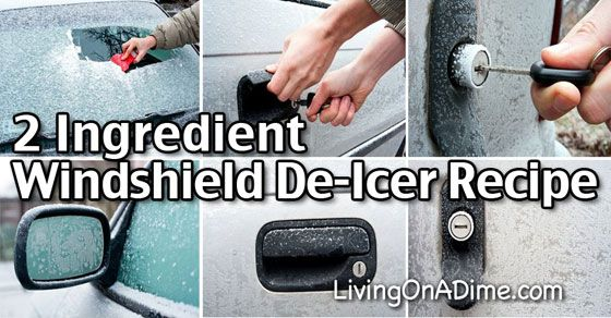 This homemade windshield de-icer recipe is super simple. Just spray it on your windshield to prevent ice or spray on ice to make it easier to clear!