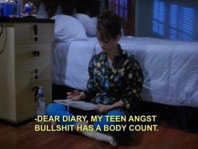 I identify very strongly with Veronica Sawyer