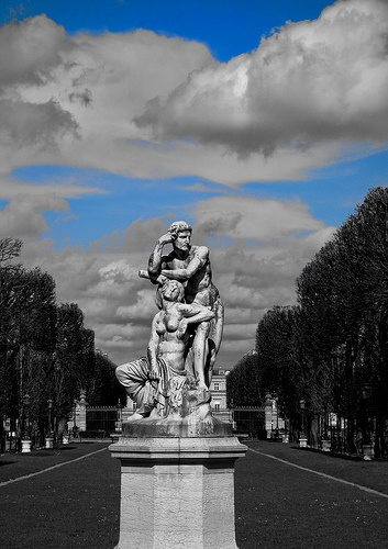 Statue, Luxembourg Gardens, Paris.