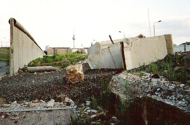 Tearing down the Berlin Wall 1990