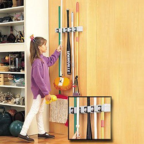 Best 25 Broom Holder Ideas On Pinterest Garage