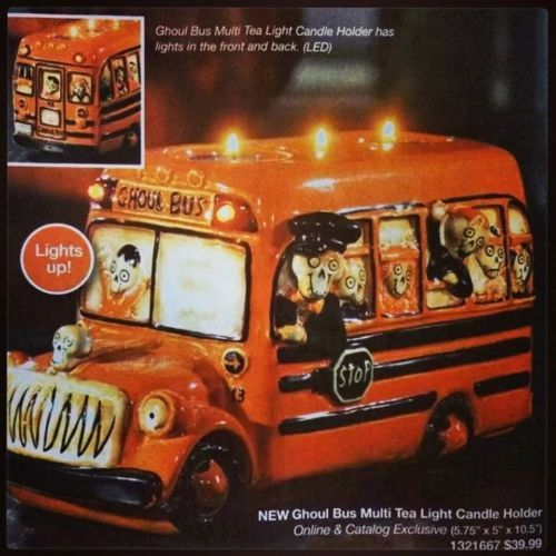 Yankee-Candle-Boney-Bunch-2014-Ghoul-Bus-Multi-Tea-Light-CandleHolder-w-LED
