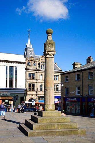 The original Market Cross at Market Place Huddersfield West Yorkshire England, via Flickr.