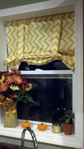 No-Sew Roman-ish Shades. Kitchen bay windows