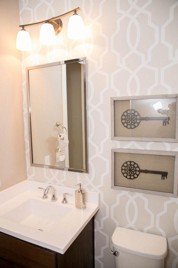 Wallpaper Accent Wall Bathroom Hakkında Pinterest'teki En Iyi 10 Gorgeous Small Bathroom Wallpaper Ideas Design Ideas