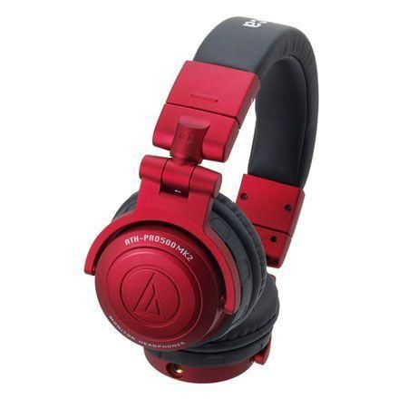 53mm high-quality large-diameter drivers deliver extremely wide frequency response (10Hz–30kHz)Soft elastomer grip for nonslip stability during DJ useSwiveling earpieces (50°/90°) provide versatile positioning for every monitoring preferenceEasily replaceable detachable cord with screw-in connectorDurable elastomer constructionRed