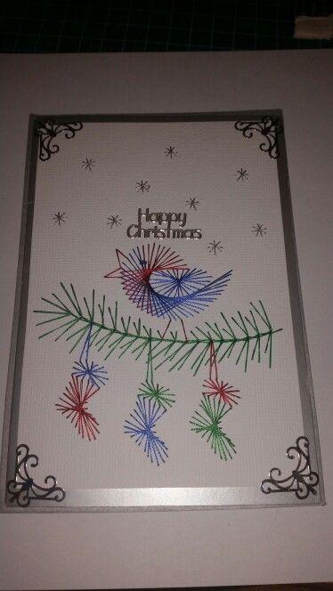 Christmas Sewn Card