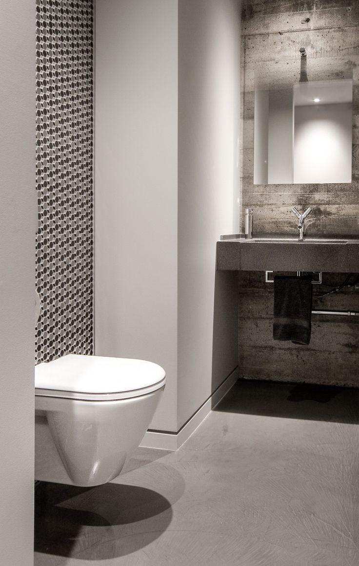 Falken reynolds modern powder room in our bachelor pad for Bachelor bathroom ideas
