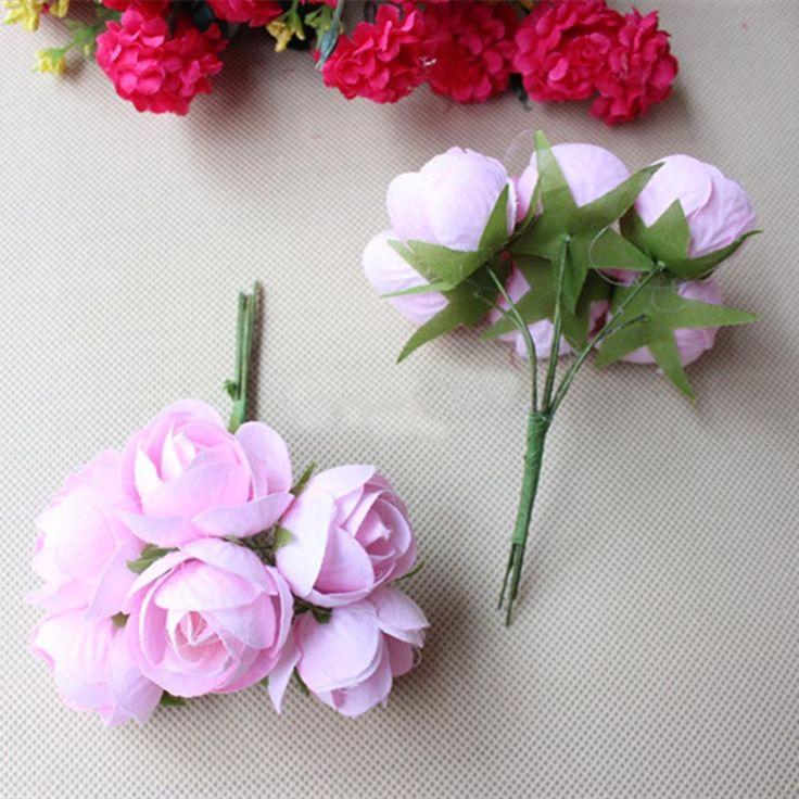 3 СМ Маленький Ткань Реального Прикосновения Роз, Стволовых Провода, Diy Шелк Целовать Мяч, Искусственные Цветочные Композиции, волосы Гирлянды Венок