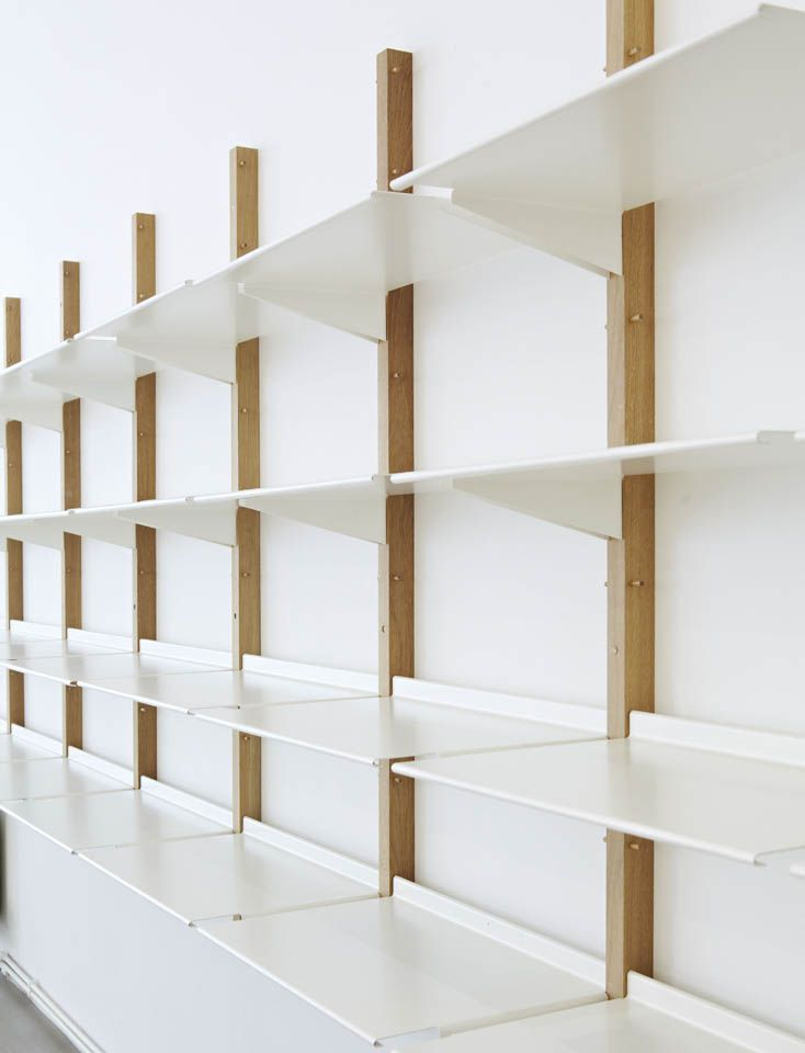 Floor Designs Ideas: Revolver I love the simplicity of Revolver  a display  and storage system based on a reversible shelf design.