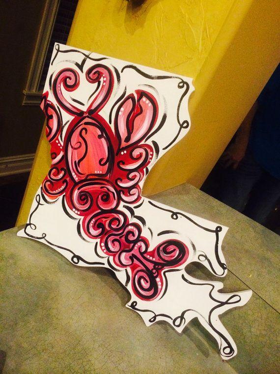 Louisiana crawfish by MyDadsScraps on Etsy