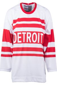 Detroit Red Wings CCM Vintage 1929 White Replica NHL Hockey Jersey