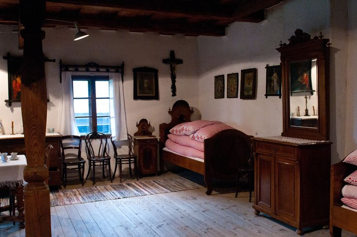 Room in the middle-class house in The Wooden Townlet (Wallachian Open Air Museum, Rožnov pod Radhoštěm)