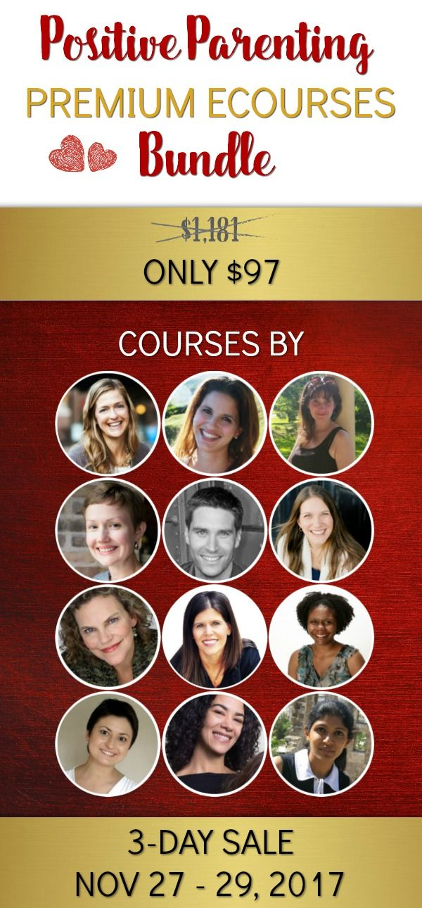 12 premium positive parenting courses (worth $1,181) for just $97! 3 day sale. Nov 27 - 29, 2017.