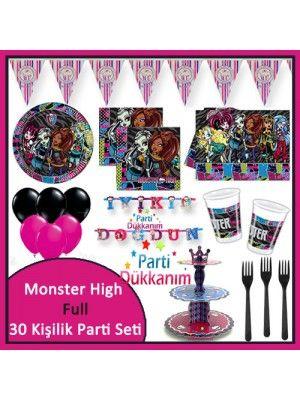 Monster High Full Parti Seti (30 Kişilik)