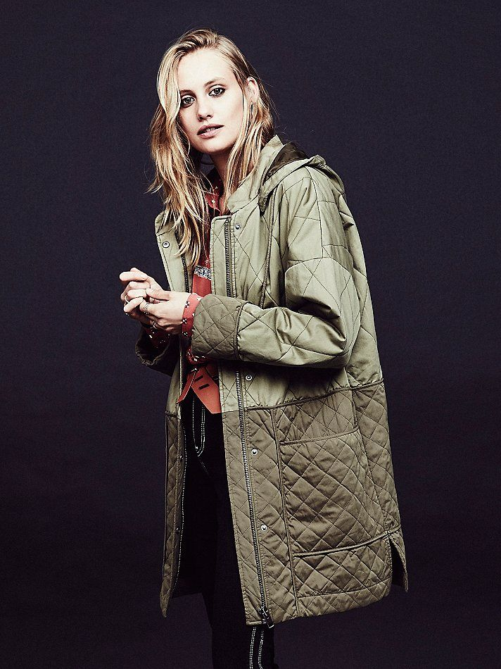 Free People Quilted Liner Parka