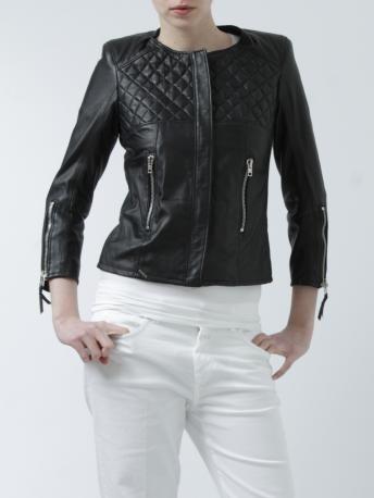 S.W.O.R.D.-giacca biker in pelle nera-black leather biker jacket-S.W.O.R.D.