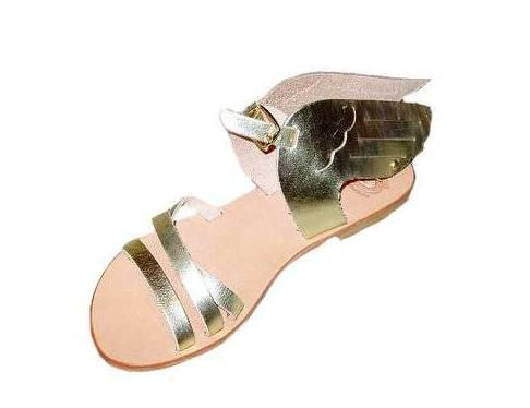 Hermes Winged  Sandals -  Summer Shoes - handmade leather sandals 62$