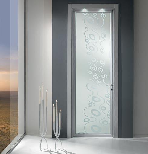 Porta Moderne in legno massello e vetro  porte da interni ...