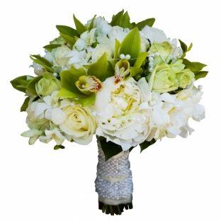 FlowWow! - Свадебный букет из пионов и орхидеи - цветы от всех флористов твоего города