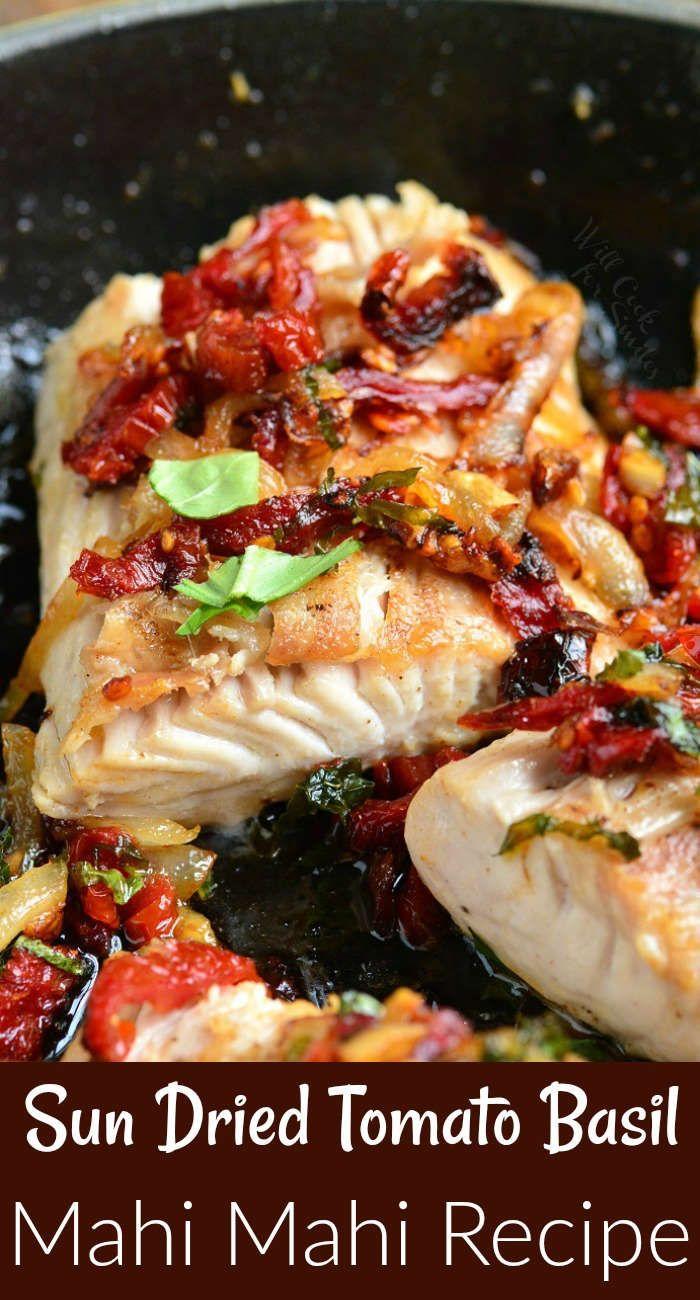 Tomato Basil Mahi Mahi. Tender, firm and flaky mah…