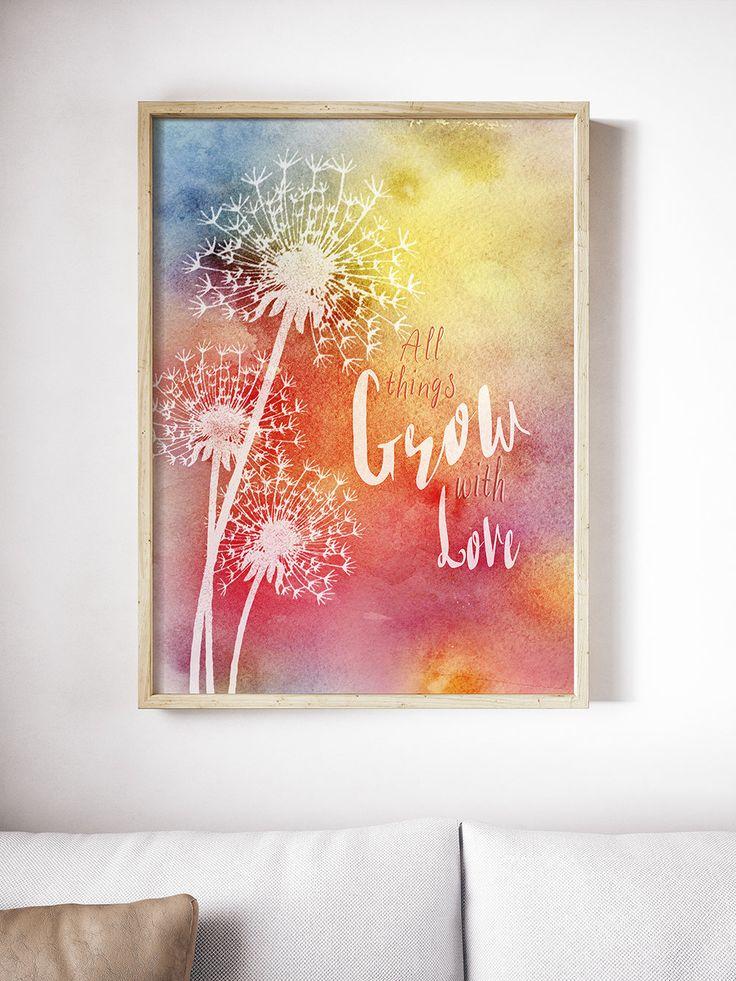 Watercolour, Motivational Print, Printable Art, Downloadable Art, Digital Print, Instant Download, Typography Art, Calligraphy Art, Wall Art by SBsPrintables on Etsy
