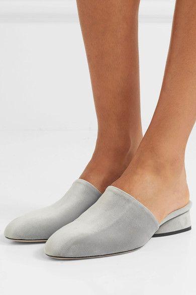 Paul Andrew - Pisa Velvet Slippers - Gray