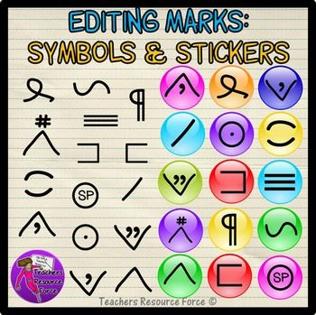 Edit Marks clip art: symbols and stickers $